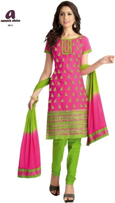 Asmee's Choice Cotton Embroidered Salwar Suit Dupatta Material