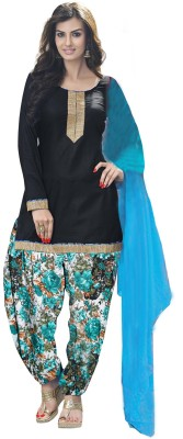 SkyBlue Fashion Crepe Floral Print Salwar Suit Dupatta Material