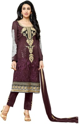 mahaveer fashions Georgette Embroidered Salwar Suit Dupatta Material