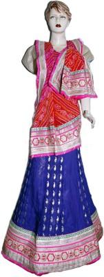 Divya Fashion Designers Jacquard Embroidered Lehenga Choli Material