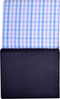 Men In Black Cotton Polyester Blend Checkered Shirt & Trouser Fabric