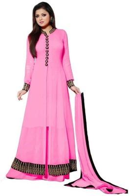 Viha Georgette Self Design Semi-stitched Salwar Suit Dupatta Material