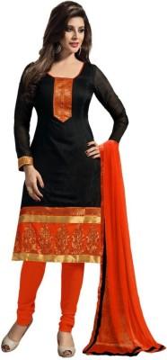 Angel Fab Chanderi Self Design Salwar Suit Dupatta Material