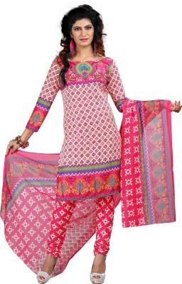 Ganga Fashion Crepe Printed Salwar Suit Dupatta Material