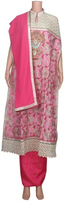 Bushra Collection Georgette, Silk Self Design Salwar Suit Dupatta Material