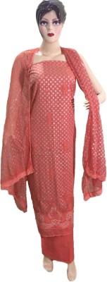 Sanchi designs Cotton Printed, Embellished Salwar Suit Dupatta Material, Semi-stitched Salwar Suit Material