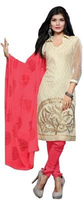 Viha Chanderi Embroidered Dress/Top Material