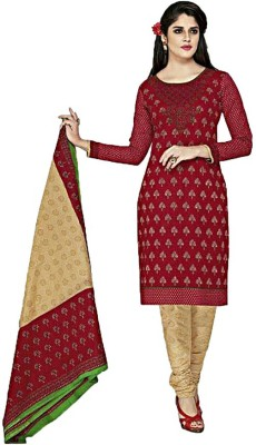 Sharv Cotton Printed Salwar Suit Dupatta Material