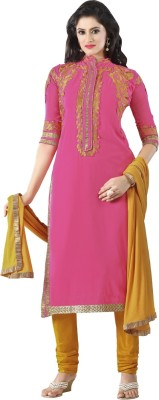 Aagamanfashion Synthetic Georgette Embroidered Salwar Suit Dupatta Material