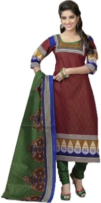 Diyastyle Cotton Self Design Salwar Suit Dupatta Material