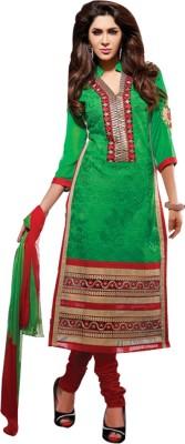 Yati Cotton Embroidered Semi-stitched Salwar Suit Dupatta Material
