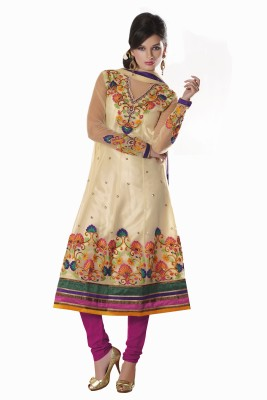 Parvati Fabrics Net Floral Print Dress/Top Material