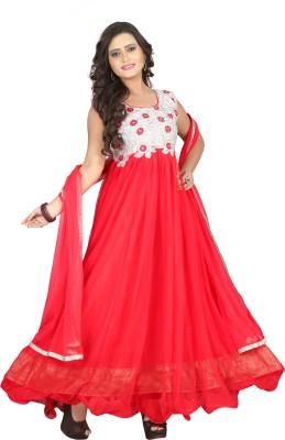 Fabviva Net Embroidered Salwar Suit Dupatta Material