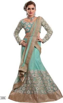 Parvati Fabrics Satin Embroidered Lehenga Choli Material