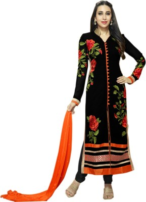 Treadindia Georgette Embroidered Dress/Top Material