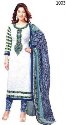 Santosafashion Cotton Printed Salwar Suit Dupatta Material