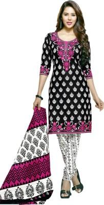 RV Fashions Cotton Printed Salwar Suit Dupatta Material