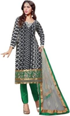 Lime Mode Chanderi Self Design Salwar Suit Dupatta Material