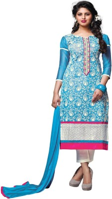 Lilots Chanderi Embroidered Salwar Suit Dupatta Material