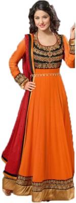 Shivdressmaterials Georgette Embroidered Salwar Suit Dupatta Material