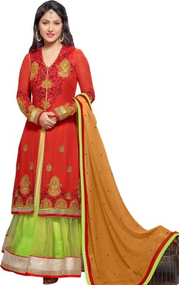 Style Mania Georgette Embroidered Lehenga Choli Material
