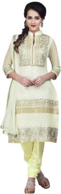 Awesome Net Self Design Semi-stitched Salwar Suit Dupatta Material