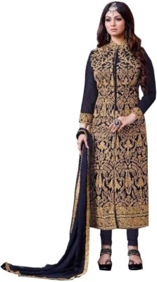 Raagvi Georgette Embroidered Semi-stitched Salwar Suit Dupatta Material
