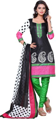 Aasvaa Cotton Embroidered Salwar Suit Dupatta Material