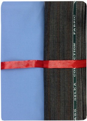 Ramkumar textile Polyester, Viscose Striped Shirt & Trouser Fabric