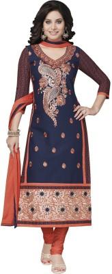 Jevi Prints Cotton Embroidered Salwar Suit Dupatta Material