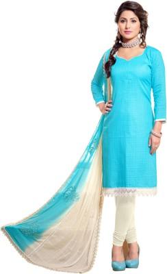 Vastrangsarees Chanderi, Cotton Embroidered Salwar Suit Dupatta Material