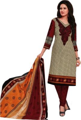 A G Lifestyle Cotton Geometric Print Salwar Suit Dupatta Material
