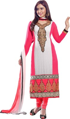 Vastrani Georgette Embroidered Dress/Top Material