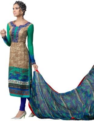 Vimush Fashion Crepe Printed Semi-stitched Salwar Suit Dupatta Material