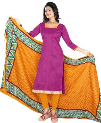 Stella Creation Chanderi Printed Semi-stitched Salwar Suit Dupatta Material