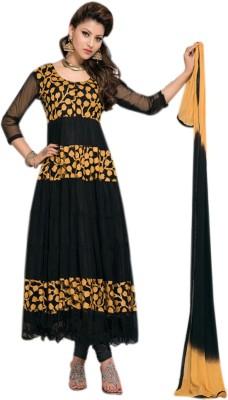 Bhargav Sarees Brasso Self Design Semi-stitched Salwar Suit Dupatta Material