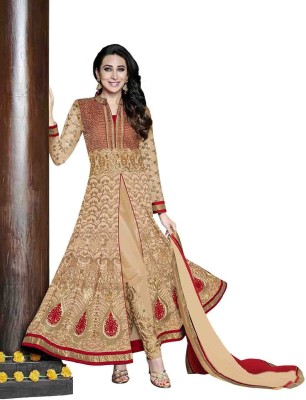 Manjaree Georgette Embroidered Semi-stitched Salwar Suit Dupatta Material