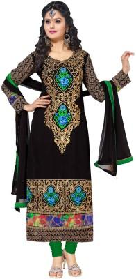 Prayosha Design Georgette Embroidered Semi-stitched Salwar Suit Dupatta Material
