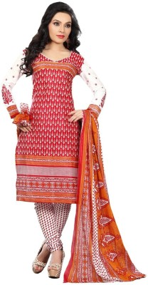 Family Shop Cotton, Chiffon Printed Salwar Suit Dupatta Material
