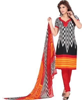 Melluha Silk Printed Salwar Suit Dupatta Material