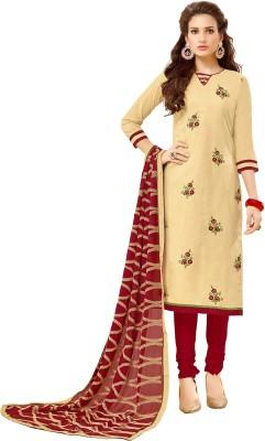 Viva N Diva Cotton Embroidered Salwar Suit Dupatta Material(Un-stitched) at flipkart