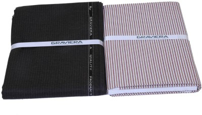 Graviera Cotton Polyester Blend Striped Shirt & Trouser Fabric