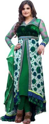 OrangeFab Georgette Embroidered Semi-stitched Salwar Suit Dupatta Material