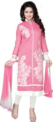Merito Cotton Embroidered, Self Design Semi-stitched Salwar Suit Dupatta Material, Semi-stitched Salwar Suit Material, Salwar Suit Material, Salwar Suit Dupatta Material