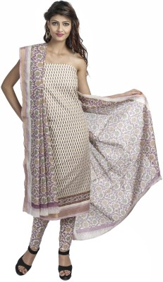 Priti & Sunny Cotton Embroidered Salwar Suit Dupatta Material