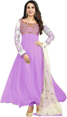 Surat Dream Georgette Embroidered Semi-stitched Salwar Suit Dupatta Material