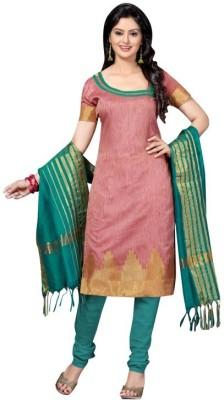 Trendz Apparels Silk Printed Dress/Top Material