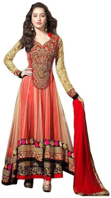 Tulsi Trendz Net Embroidered Salwar Suit Dupatta Material