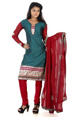 B3 Fashion Jacquard Self Design Semi-stitched Salwar Suit Dupatta Material