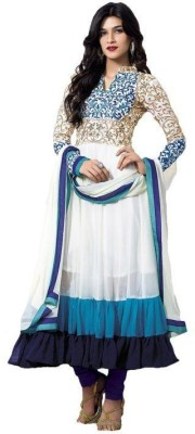 India Bulks Georgette Embroidered Semi-stitched Salwar Suit Dupatta Material